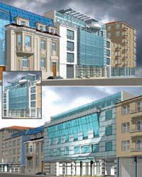 Architecture of business centers, Sofia